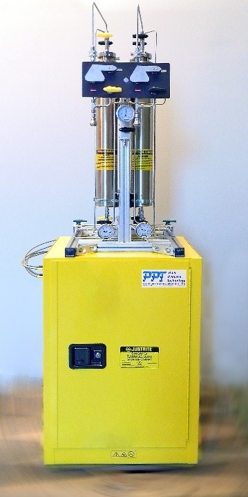 Cabinet Mount for Solvent Purification