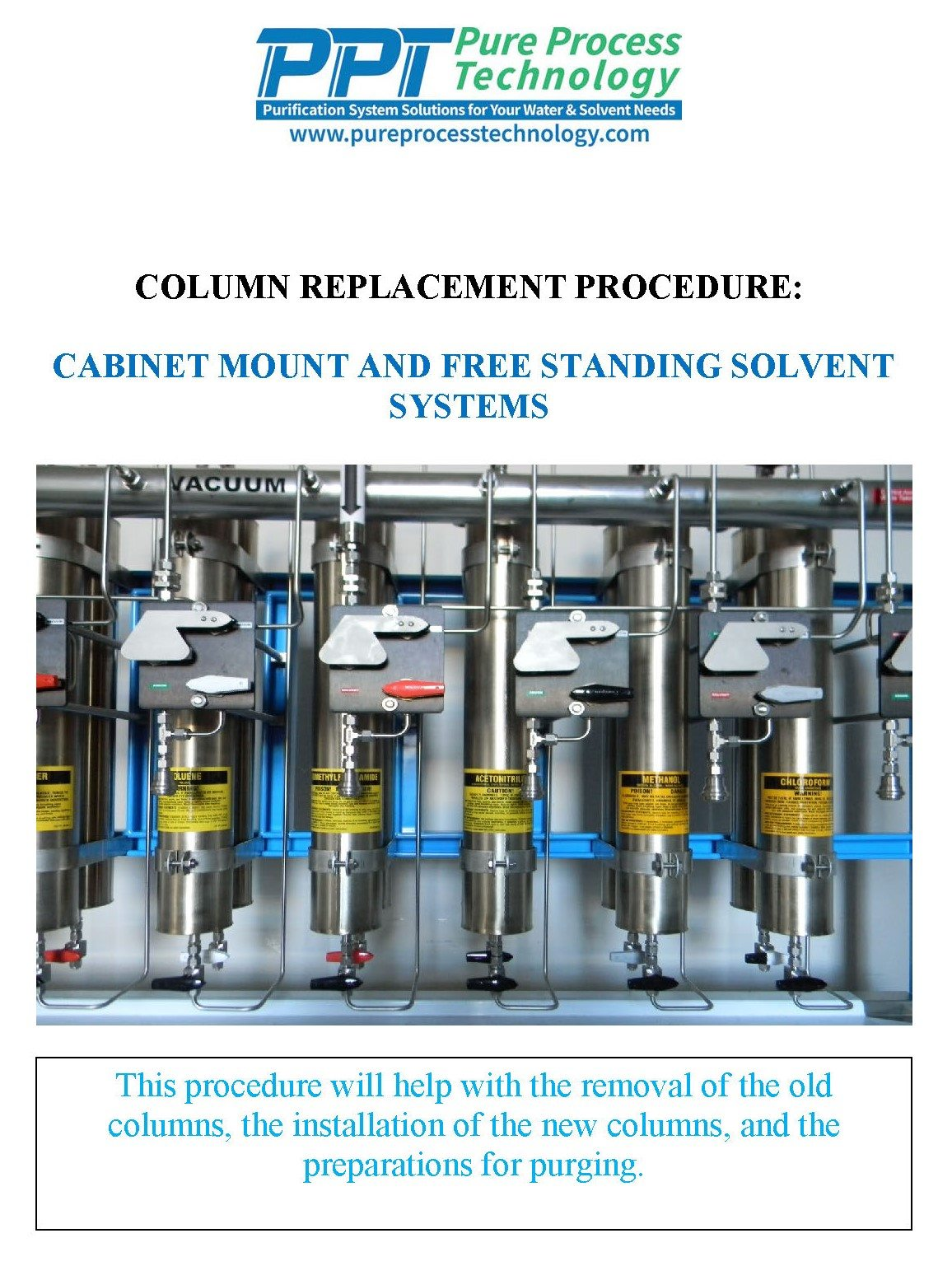 Columns Replacement Procedure