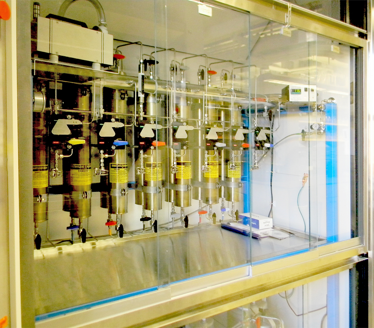 Hood Install Solvent Purification System