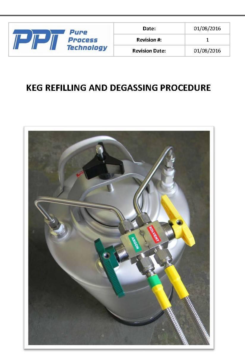 Keg Refilling and Degassing Procedure